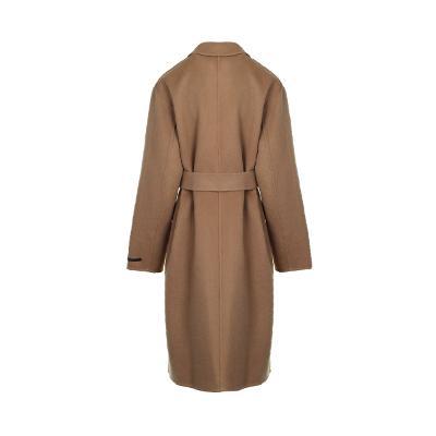 wrap detail coat beige